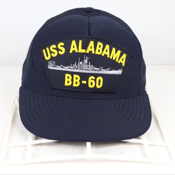 57ac7e08 Vintage Accessories   Uss Alabama Snapback Hat Cap Navy Blue   Poshmark